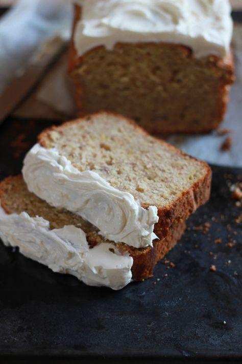 Banana Bread with Greek Yogurt Frosting