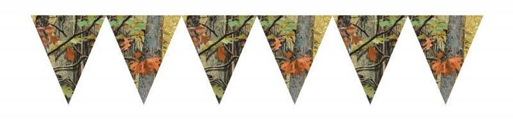 Hunting Camo Birthday Party Flag Banner (6/case)