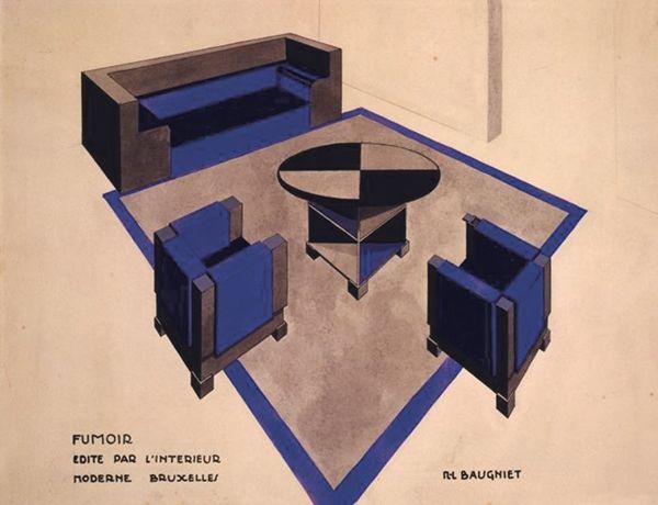 Expo: schatten van de moderne architectuur   Project voor een rookkamer van M-L Baugniet