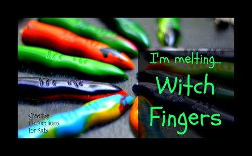 witch fingers from melted crayons