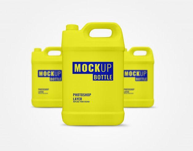 Yellow Gallon Mockup Bottle Mockup Gallon Mockup