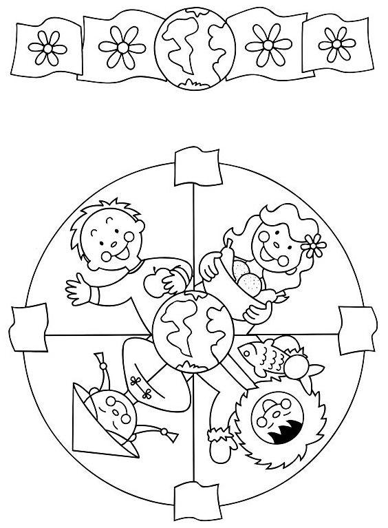 Mandaly pro děti | Předškoláci.cz - omalovánky, pracovní listy