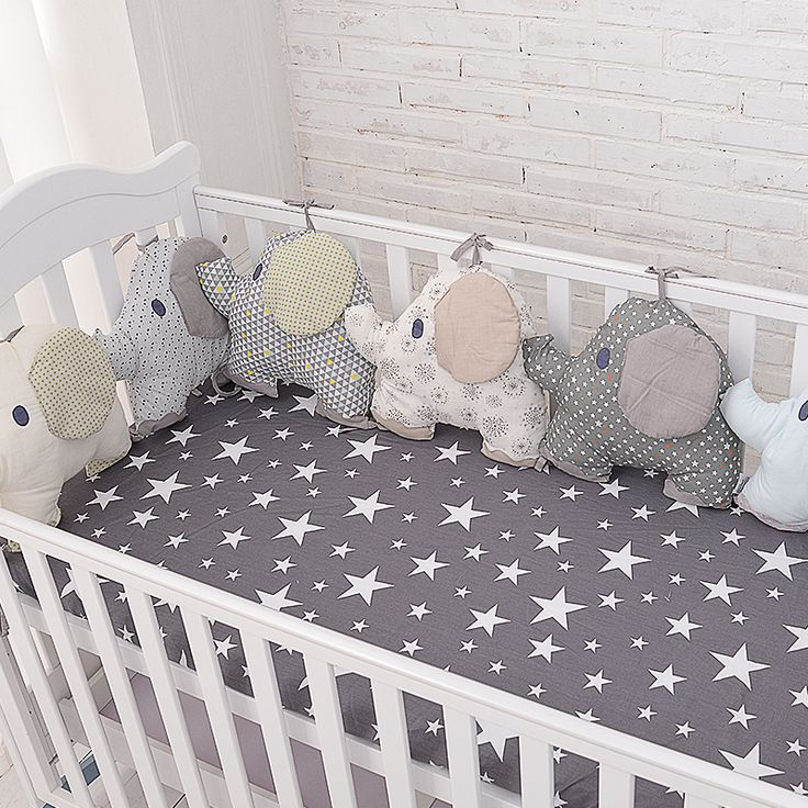 new style baby bed backrest cushion aimal elephant crib bumpers soft infant bed around protection plush boys girls on Aliexpress.com | Alibaba Group