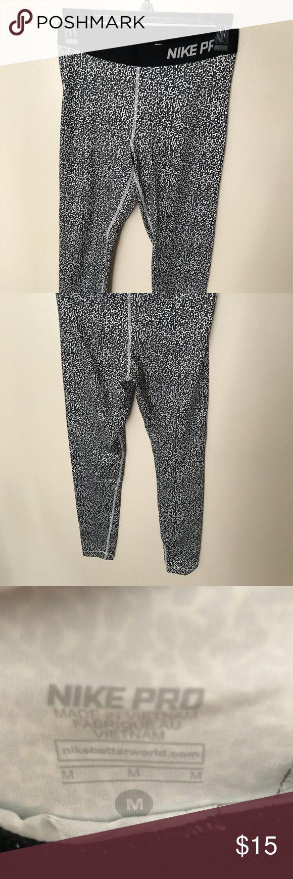 Nike pro workout pants Black and white Nike pro pants Nike Pants