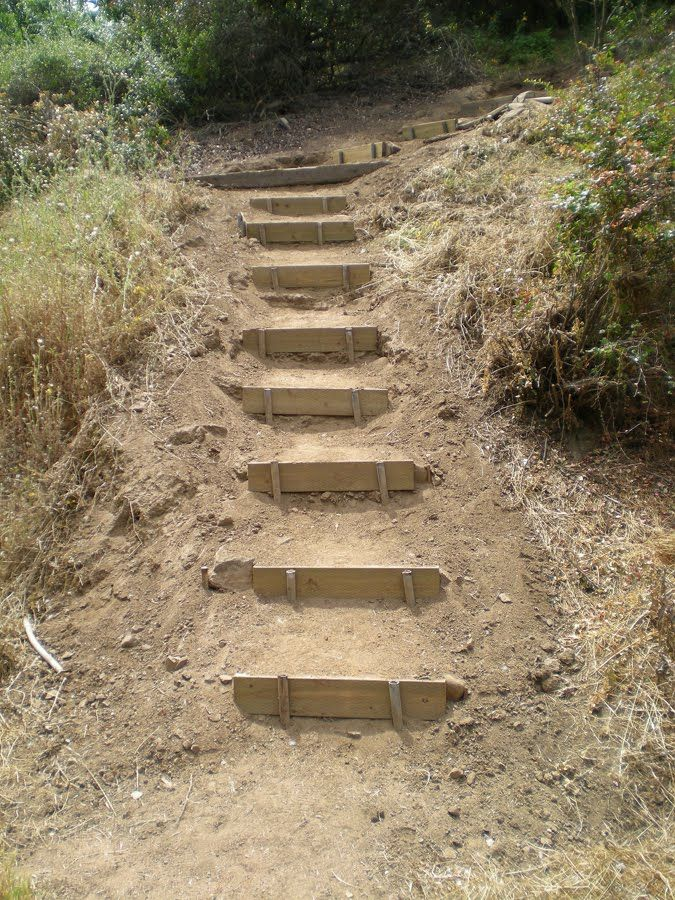 Landscape Steps With Railroad Ties Google Search