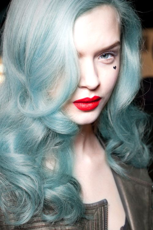 Platinum Blonde And Icy Blue Hair Pictures