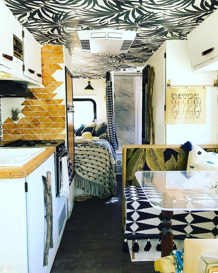"892 Likes, 17 Comments - Justina Blakeney (@justinablakeney) on Instagram: ""Visiting @liz_kamarul's insanely cute Winnebago. More in my stories! """