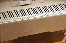 livraison gratuite 88 touches de piano stickers muraux, standard clavier de piano de piano 129x15.8cm décoration wall sticker(China (Mainland))