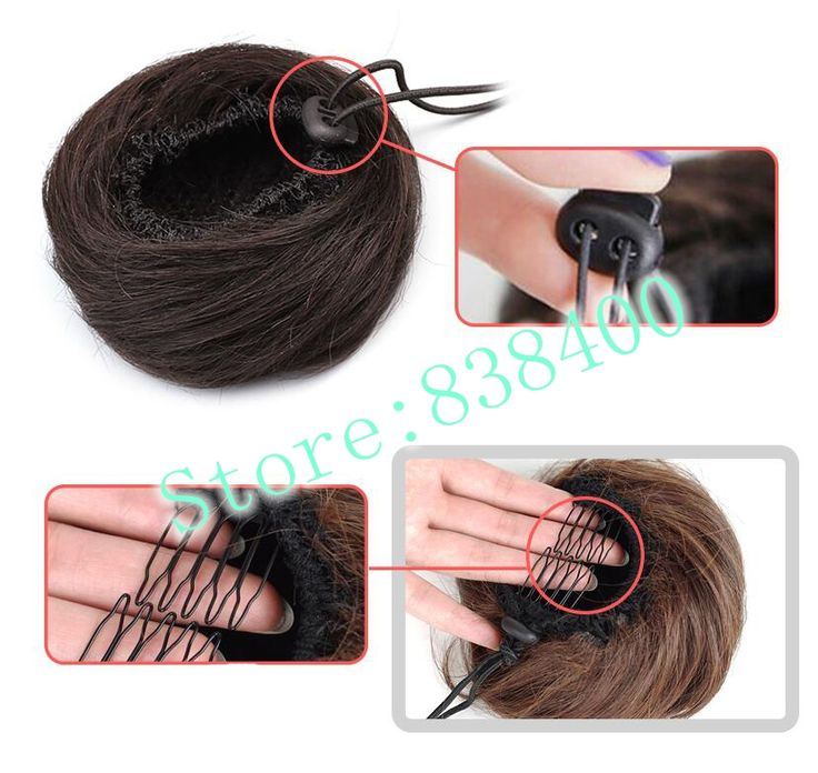 Synthetic hair buns pieces squishy buns for sale that the method of use