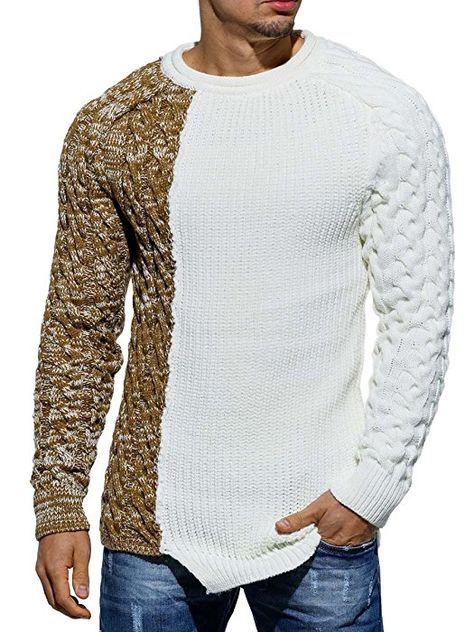 Tazzio Herren Pullover 15-458 Weiß M