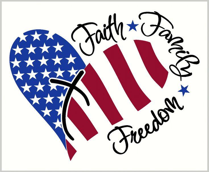 Faith Family Freedom Heart with Stars and Stripes ...