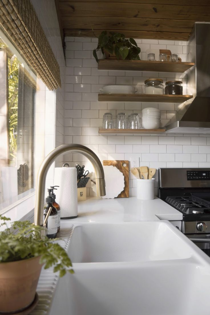 best 25 brass kitchen faucet ideas only on pinterest brass brass kitchen faucet open shelves kitchen inspo