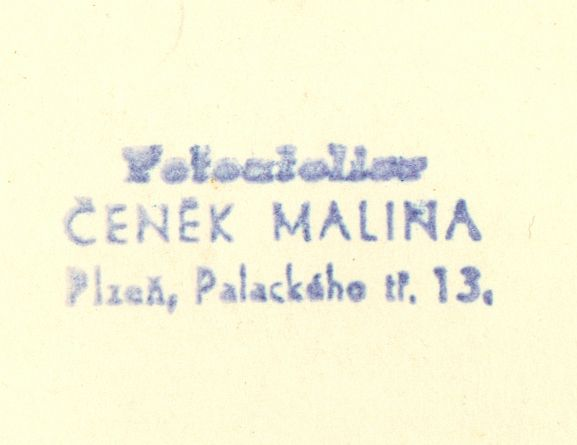 Malina, Plzeň, razítko