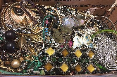 Vintage To Now Junk Drawer Jewelry Lot Unsearched No Reserve E