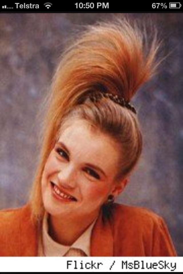 80s hair high ponytail | Totally 80s | Pinterest | The o ...