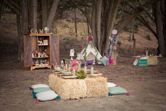 Camp Talia girl's camp-themed 10th birthday   Design by Ivy and Oak Events   Photos by Katie Toland   See more on 100 Layer Cakelet