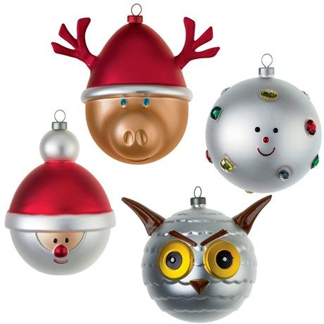 Store juletrekuler med julemotiv fra italienske Alessi!