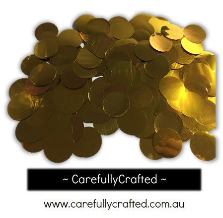 CarefullyCrafted - 25 Grams Foil Paper Confetti - Gold - 1 inch Circles  - party, wedding, event, decoration, confetti, gold, foil http://carefullycrafted.com.au/25-grams-foil-paper-confetti-gold-1-inch-circles-cc9/