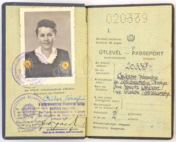 1950 Útlevél, Magyar Népköztársaság címkével átragasztott | Darabanth Kft.