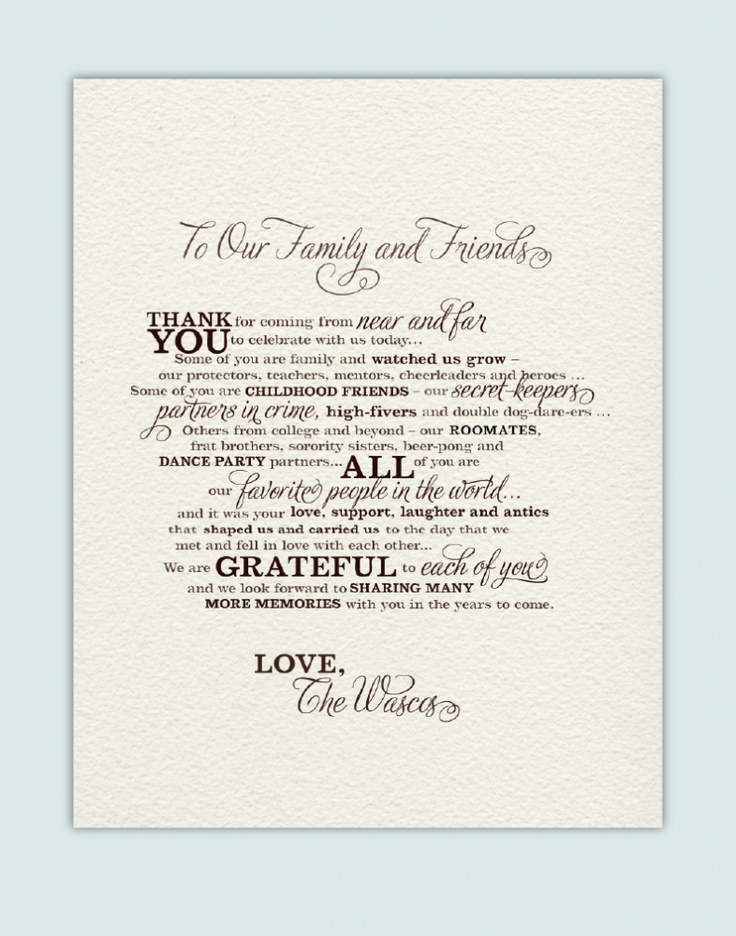 Wedding Gift Thank You Wording Before Wedding : custom wedding message would be nice at end of wedding program Wedding ...