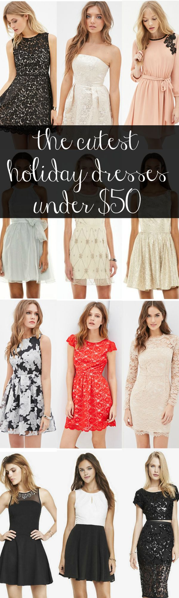 The cutest holiday party dresses under $50 + save even more with @shopular! #sp