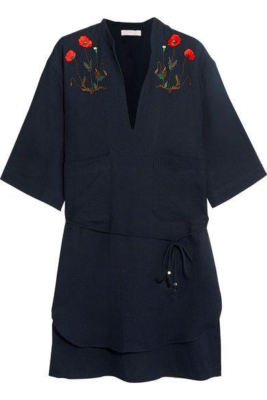 Stella McCartney - Embroidered Cotton Shirt - Navy - S/M