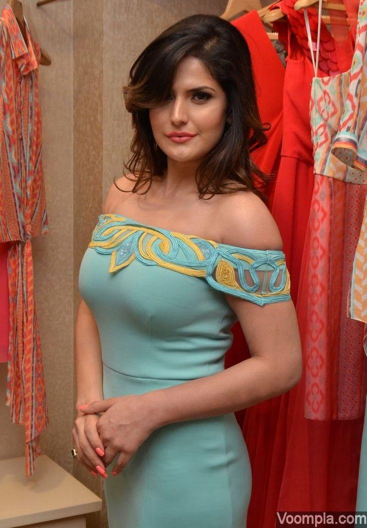 """Voompla on Twitter: """"Ravishing! @zareen_khan in a @RitikaBharwani off shoulder dress https://t.co/7y8ercN6Td #beauty https://t.co/riuYx1v1S6"""""""