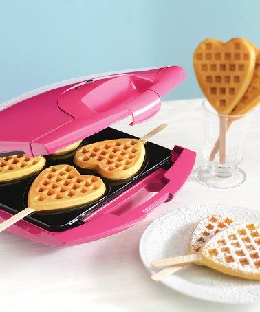 Take a look at this Pink Heart Waffle Pop Baker by BABYCAKES on #zulily today!