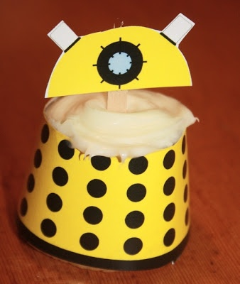 Doctor Who Dalek Cupcakes