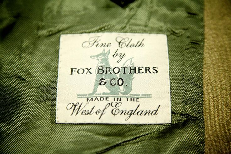 The fabric of this traditional Covert Coat is from Fox Brothers of Somerset.
