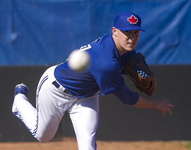 Aaron Sanchez fires away during bullpen session | Flickr - Photo Sharing!