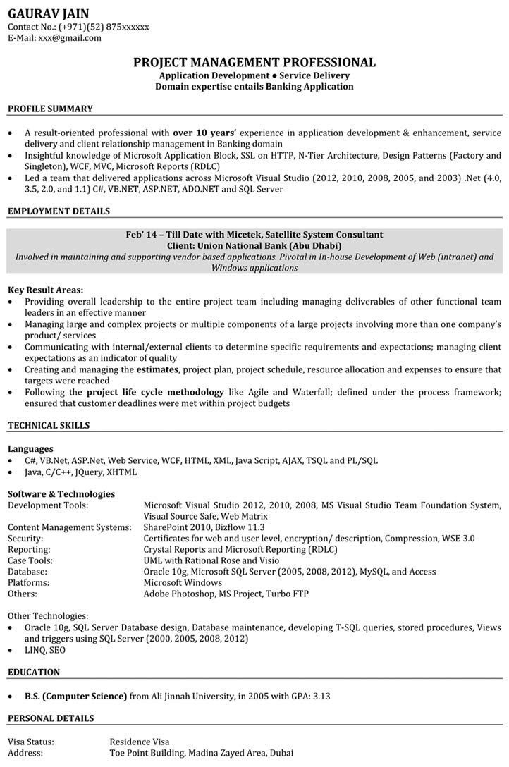 Resume Format For 4 Yrs Experience Experience Format Resume