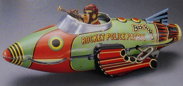 Buck Rogers - Rocket Police Patrol by Marx 1940's, via Flickr.