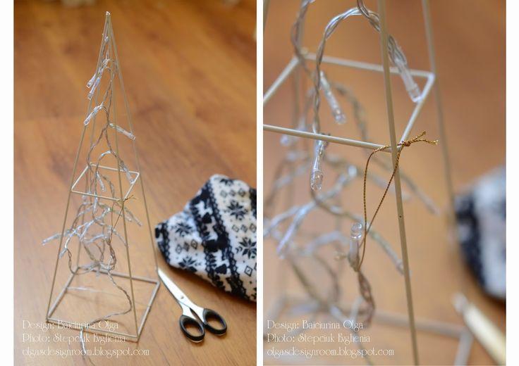 Baiciurina Olga's Design Room: Новогодняя елка своими руками-Hand Made christmas tree!