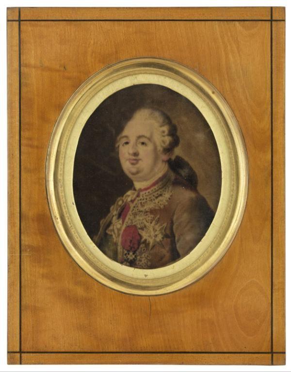 Gaspard Grégoire (Aix-en-Provence, 20 octobre 1751 - Paris, 12 mai 1846), Portrait de Louis XVI, Paris, après 1786 ou après 1815. MT 24584. Achat Salet, 1888. © Musée des Tissus, Pierre Verrier