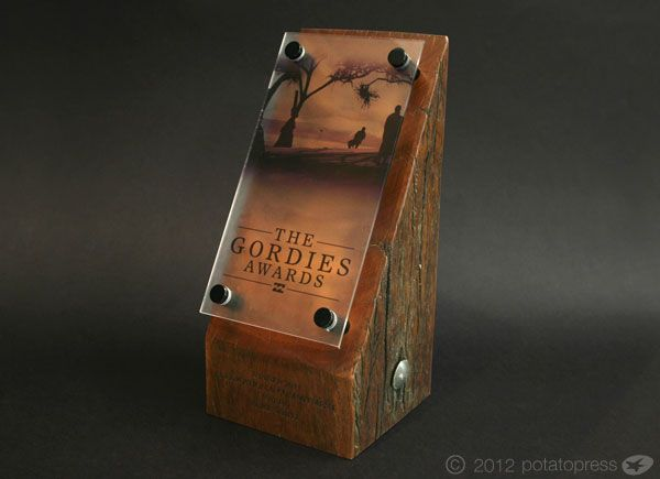 Billabong Gordie Awards - Custom Trophy by Potato Press