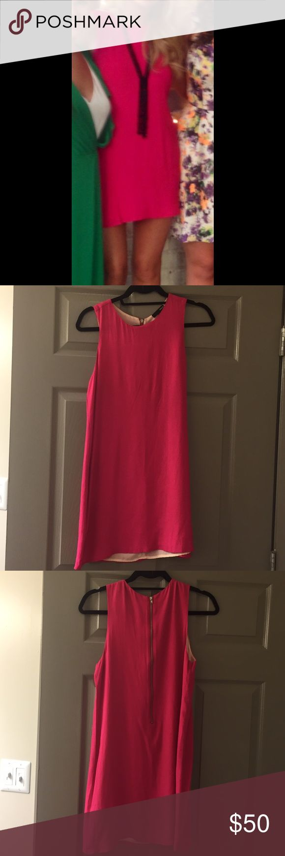 Aqua hot pink mini dress Excellent condition! Worn only once. Hot pink. Perfect for dressing up or down! Aqua Dresses Mini