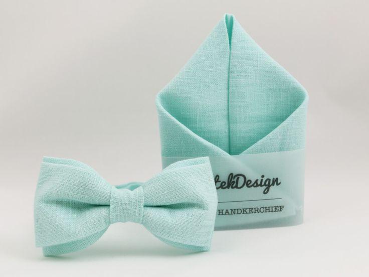 Pajaritas - Pajarita + Pañuelo de bolsillo - hecho a mano por BartekDesign en DaWanda