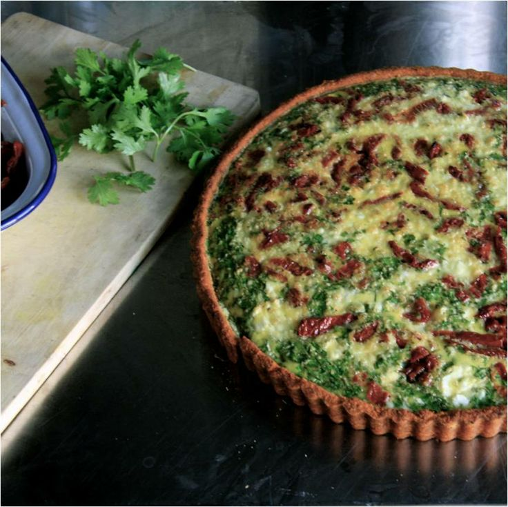 Not a simple Quiche. #GlutenFree #Flavour packed Sundried Tomato Quiche.