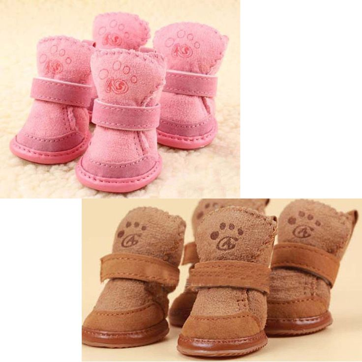 Warm Winter Pet Dog Boots Puppy Shoes 2 Colors For Small Dog | Pet Supplies, Dog Supplies, Clothing & Shoes | eBay!