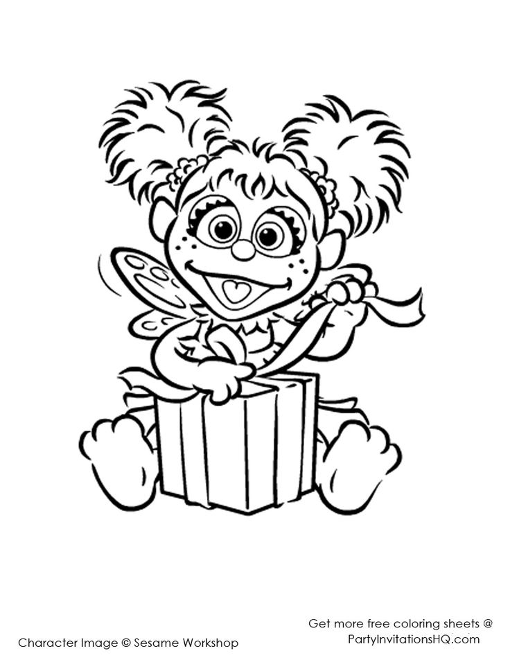 17 best images about coloring pages on pinterest for Sesame street abby coloring pages