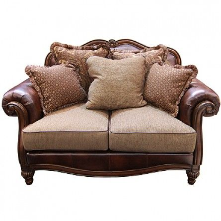 Ashley Claremore Antique Loveseat Loveseat Living Room Gallery Furniture Gallery Furniture