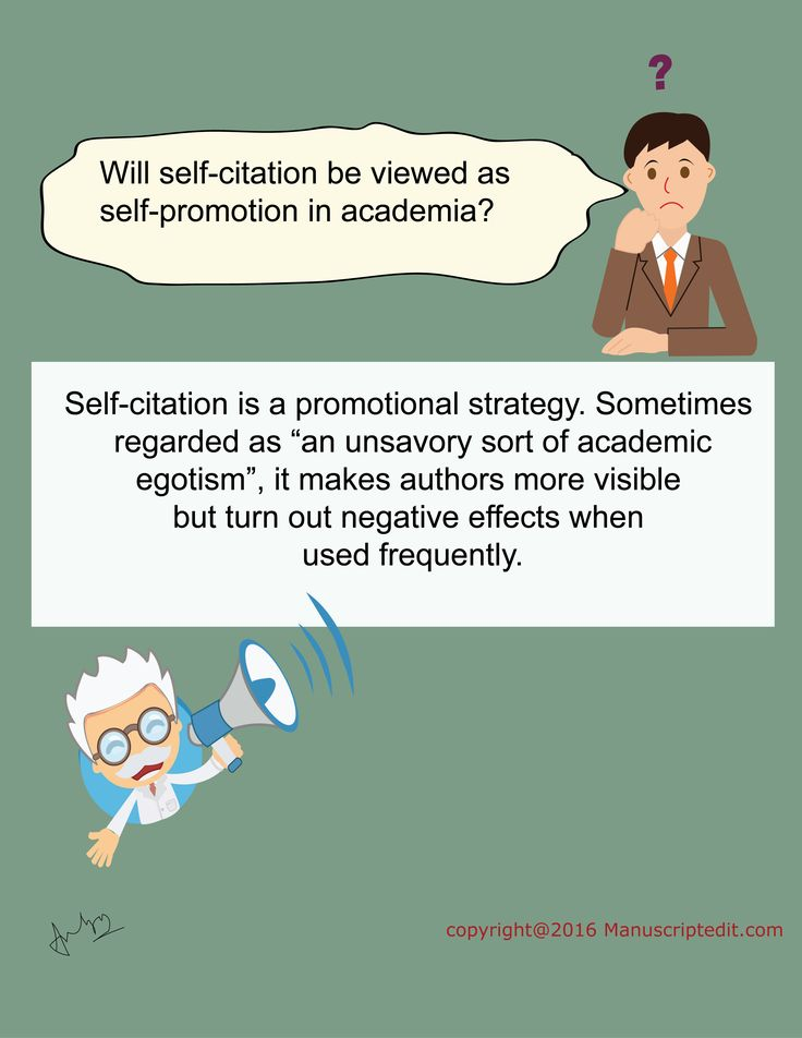 "#Manuscriptedit @ Will self-citation be viewed as self-promotion in academia?   Self-citation is a promotional strategy. Sometimes regarded as ""an unsavory sort of #academic egotism"", it makes #authors more visible but turn out negative effects when used frequently.   #Manuscriptedit #blogpost : http://bit.ly/1XVzYMw"