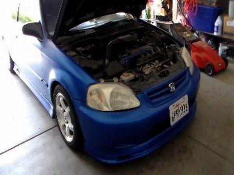 How to change Honda Civic Automatic Transmission Fluid 1996-2000 - YouTube