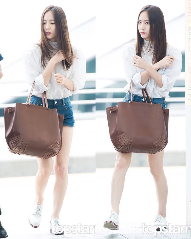 《160803》#Krystal - Incheon Airport heading to Italy for a Photoshoot. -©️Press…