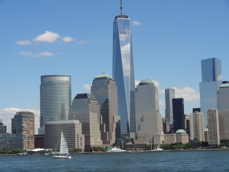 Manhattan skyline with new Memorial Tower.