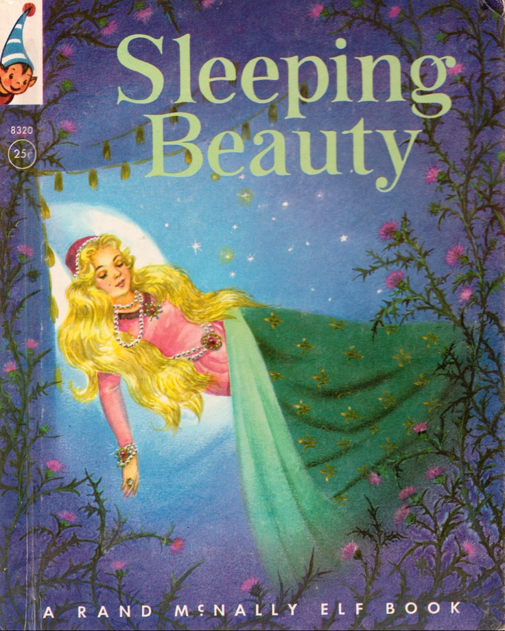 Children S Book Cover Canvas Art : Sleeping beauty illustrated by elizabeth webbe