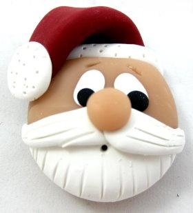 Polymer Clay - Santa Head: Santa Clause, Polymer Clay Tutorials, Cute Diy Ornaments, Diy Crafts, Crafts Projects, Clay Santa, Santa Head, Christmas Ornament, Handmade Polymer Clay