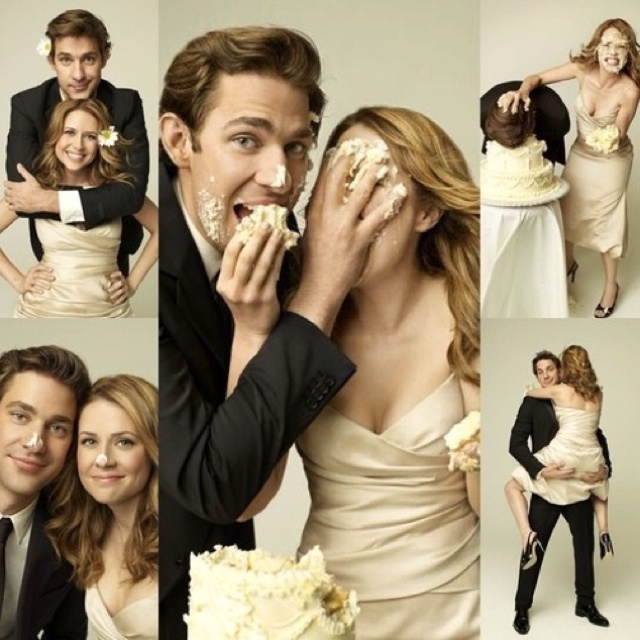 I will have the Jim and Pam wedding cake photoshoot. I WILL HAVE IT!