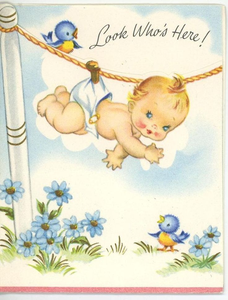 17 Best images about Vintage Baby Cards – Vintage Baby Announcements